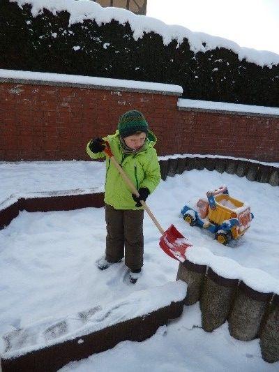 Wir schieben Schnee